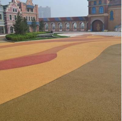 彩色透水地坪图片