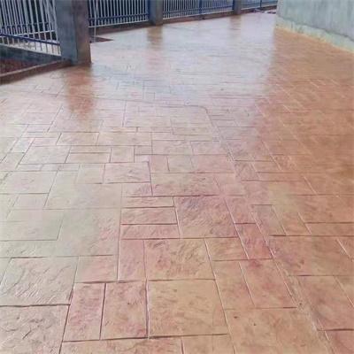 浙江衢州水泥印花路面案例