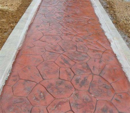 彩色水泥压印道路